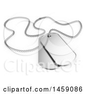 Poster, Art Print Of 3d Dog Tags On A White Background