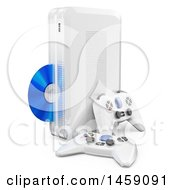 3d White Video Game Console On A White Background
