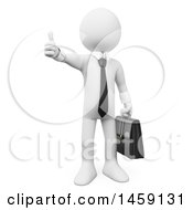 Clipart Of A 3d White Business Man Giving A Thumb Up On A White Background Royalty Free Illustration