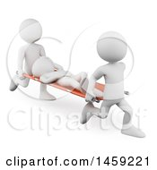 Clipart Of A 3d White Man Being Rushed To A Doctor On A Stretcher On A White Background Royalty Free Illustration by Texelart