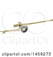 Clipart Of A Military Weapon Royalty Free Vector Illustration