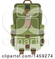Clipart Of A Military Pack Royalty Free Vector Illustration