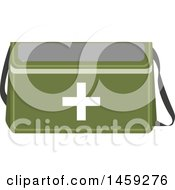 Clipart Of A Military First Aid Kit Royalty Free Vector Illustration