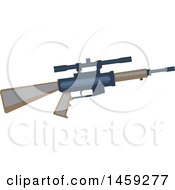 Clipart Of A Military Rifle Royalty Free Vector Illustration