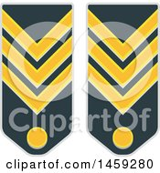 Clipart Of Military Badges Royalty Free Vector Illustration by Vector Tradition SM