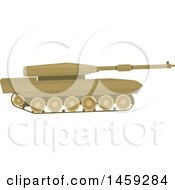 Clipart Of A Military Tank Royalty Free Vector Illustration