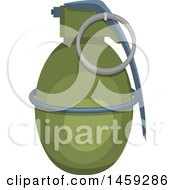 Clipart Of A Military Grenade Royalty Free Vector Illustration by Vector Tradition SM