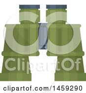Clipart Of A Military Binoculars Royalty Free Vector Illustration by Vector Tradition SM