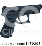 Clipart Of A Gun Royalty Free Vector Illustration