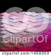 Clipart Of A Geometric Low Poly Block Background In Pink Shades Royalty Free Vector Illustration
