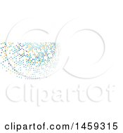 Clipart Of A Halftone Dot Social Media Cover Banner Design Element Royalty Free Vector Illustration