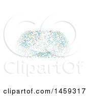 Clipart Of A Halftone Dot Tunnel Social Media Cover Banner Design Element Royalty Free Vector Illustration