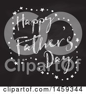 Clipart Of A Happy Fathers Day Chalk And Blackboard Design Royalty Free Vector Illustration