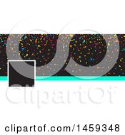 Clipart Of A Colorful Confetti Party Planner Or Event Social Media Cover Banner Design Element Royalty Free Vector Illustration