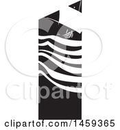 Clipart Of A Black And White Sailing Ship Royalty Free Vector Illustration