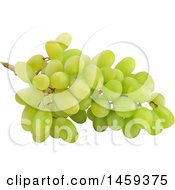 Clipart Of A 3d Bunch Of Green Grapes Royalty Free Vector Illustration by cidepix