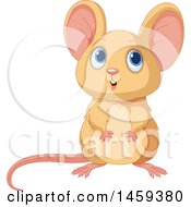 Clipart Of A Cute Tan Mouse Royalty Free Vector Illustration by Pushkin