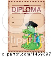 Crocodile Student School Diploma Design