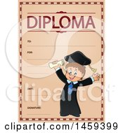 Clipart Of A Graduate Boy School Diploma Design Royalty Free Vector Illustration by visekart