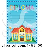 Building And School Diploma Design