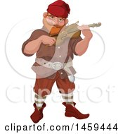 Poster, Art Print Of Male Dwarf Playing A Fiddle Violin