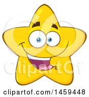 Clipart Of A Cartoon Happy Star Mascot Character Royalty Free Vector Illustration by Hit Toon