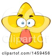 Clipart Of A Cartoon Teasing Star Mascot Character Sticking Its Tongue Out Royalty Free Vector Illustration