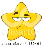 Clipart Of A Cartoon Annoyed Star Mascot Character Royalty Free Vector Illustration