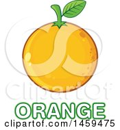 Clipart Of A Navel Orange Fruit Over Text Royalty Free Vector Illustration by Hit Toon