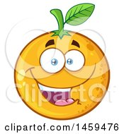 Navel Orange Fruit Mascot Character