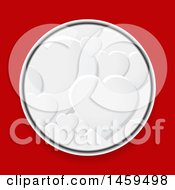 Poster, Art Print Of Circle Of 3d White Hearts On Red