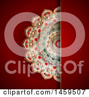Clipart Of A Mandala And Red Background Royalty Free Vector Illustration