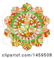 Clipart Of A Mandala On A White Background Royalty Free Vector Illustration