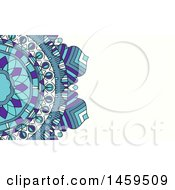 Clipart Of A Mandala Business Card Background Royalty Free Vector Illustration