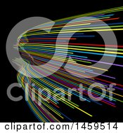 Clipart Of A Background Of Colorful Lines On Black Royalty Free Vector Illustration