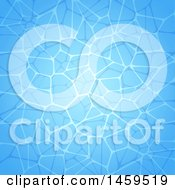 Clipart Of A Blue Swimming Pool Water Background Royalty Free Vector Illustration
