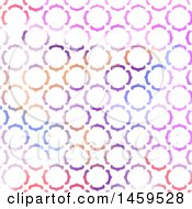 Clipart Of A Background Of Colorful Watercolor Circles On White Royalty Free Vector Illustration