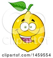 Clipart Of A Happy Lemon Mascot Character Royalty Free Vector Illustration by Hit Toon