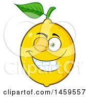 Clipart Of A Winking Lemon Mascot Character Royalty Free Vector Illustration