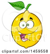 Clipart Of A Goofy Lemon Mascot Character Royalty Free Vector Illustration