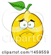 Clipart Of A Crying Lemon Mascot Character Royalty Free Vector Illustration
