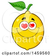 Clipart Of A Loving Lemon Mascot Character Royalty Free Vector Illustration