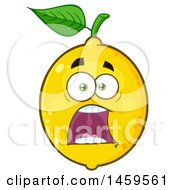 Clipart Of A Screaming Lemon Mascot Character Royalty Free Vector Illustration