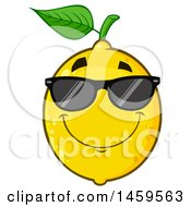 Clipart Of A Cool Lemon Mascot Character Wearing Sunglasses Royalty Free Vector Illustration by Hit Toon