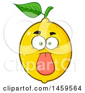 Clipart Of A Lemon Mascot Character Sticking Its Tongue Out Royalty Free Vector Illustration by Hit Toon