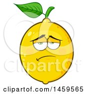 Clipart Of A Bored Lemon Mascot Character Royalty Free Vector Illustration by Hit Toon