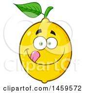 Clipart Of A Hungry Lemon Mascot Character Royalty Free Vector Illustration