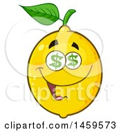 Clipart Of A Greedy Lemon Mascot Character Royalty Free Vector Illustration by Hit Toon