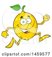 Clipart Of A Running Lemon Mascot Character Royalty Free Vector Illustration by Hit Toon