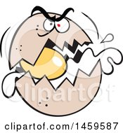 Clipart Of A Cartoon Raging Egg Cracking Royalty Free Vector Illustration